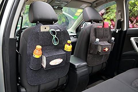 Chilsuessy 2er-Set Rücksitz Organizer / Rücksitztasche / Auto Rücksitzschoner /