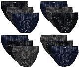 12 Herren Sport - Slips in klassischen Farbkombinationen ohne Eingriff 100% Baumwolle 12er Spar Pack Slip Herrenslip Jungen Man M L XL 2XL 3XL 4XL (7/XL, Bedruckt 03)