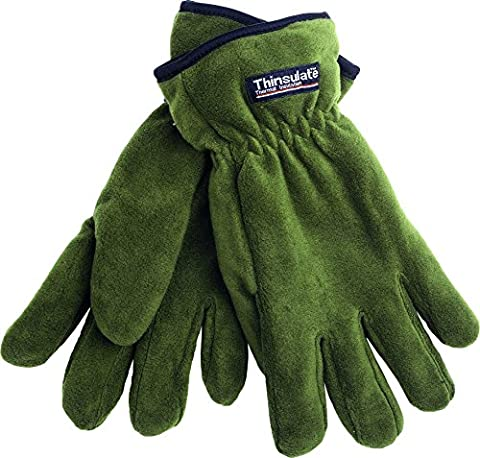 Fladen Thinsulate Thermal Insulated Fleece Glove - Green, X Large