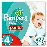 Pampers Baby Dry Pants Windeln, Gr. 4 (8-14 kg), 3er Pack (3 x 27 Stück)