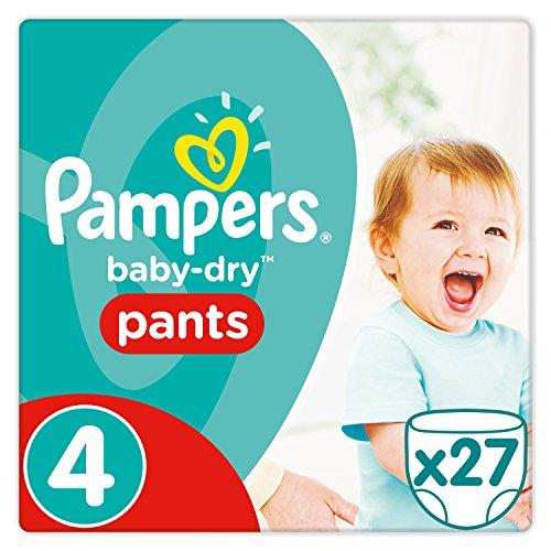 Pampers Baby-Dry Pants Größe4, 8-14kg, Windeln, 4er Pack (4 x 27 Stück)