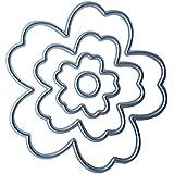 4piezas Troqueles de corte de flores diseño de DIY Metal Craft Decoración