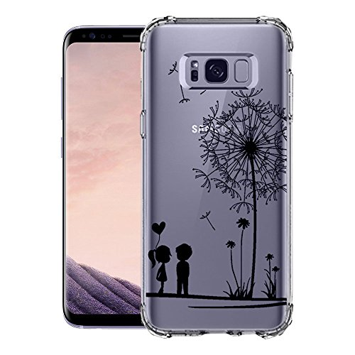 Coque iPhone Samsung Galaxy S8, blossom01 Cute Motif Premium TPU Souple Etui de Protection [absorbant les chocs] [Ultra mince] [Anti-rayures] pour iPhone Samsung Galaxy S8 - Ananas Pissenlit