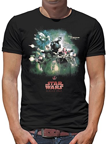 Kostüm Rebel Prinzessin (TLM Star Wars Rogue One Rebel Poster T-Shirt Herren M)