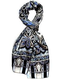 Lorenzo Cana Men's  PaisleyScarf Blue Multicoloured