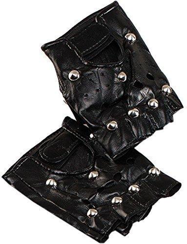 Schicke Party Christmas 1980er Jahre Rock Star Billy Idol Gothic Nieten Punk Handschuh (Rock Star Jahre 1980er Kostüme)