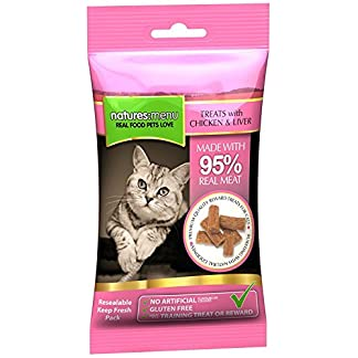 4 packs of natures menu cat treats - real chicken & liver 60g 4 packs of Natures Menu Cat Treats – Real Chicken & Liver 60g 51Eoqy4UcHL