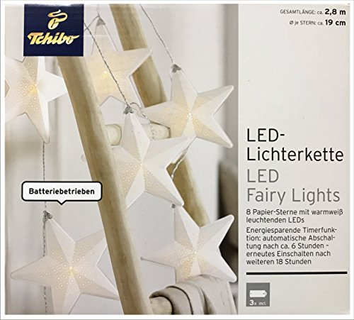 TCM Tchibo LED Lichterkette Sterne Vintage Design Deko Licht Beleuchtung