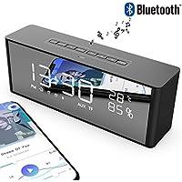 Altoparlante Bluetooth Senza Fili e Cassa Bluetooth Wireless con Radio FM e Microfono Supporto Chiamata Vocale Scheda TF AUX Display a LED Portatile e Universale
