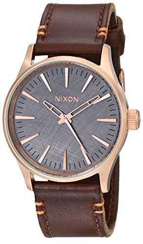 nixon-sentry-38-leather-watch-rose-gold-brown-a377-2001