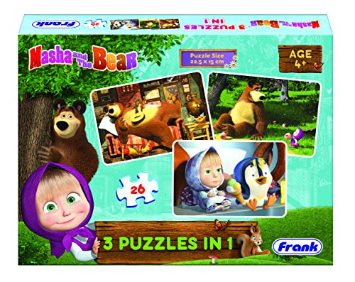 Frank Masha and The Bear 3 in 1 Jigsaw Puzzle - 26 Pieces