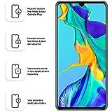Huawei P30 Smartphone débloqué 4G (6,1 pouces - 6/128Go - Double Nano SIM - Android 9.1) Bleu aurora [Offre avec bon d'achat]