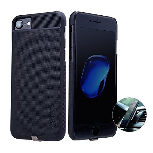 Nillkin iPhone 7 Qi Receptor, Ultra Slim Receptor de Carga inalámbrica Funda de teléfono Fuerte Funda magnética para Cargador de Coche Retroproyección para Apple iPhone 7 Pulgadas, Negro