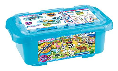 Aquabeads 31591 31591-Mega Bastelbox Safari Deutsche Version, bunt
