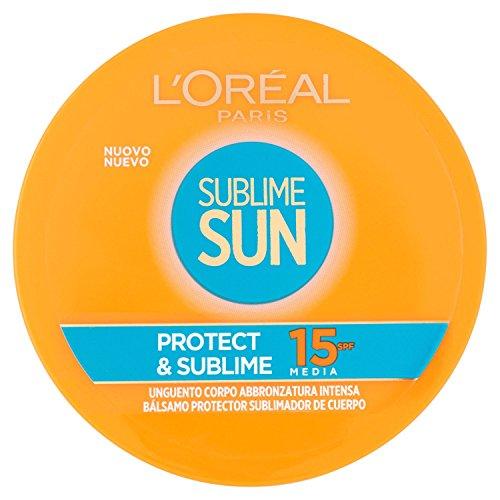 L'oréal paris sublime sun protect & sublime protezione solare, unguento corpo abbronzatura intensa ip 15, 100 ml