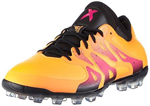 adidas Herren X 15.1 AG Fußballschuhe, Orange (Solar Gold/Core Black/Shock Pink), 43 1/3 EU