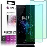 NALIA (2 Unidades) Cristal Templado Compatible con Sony Xperia XZ2 Compact, Vidrio Blindado Película Protectora 9H Film, LCD Screen-Protector de Pantalla Movil Tempered-Glass - Transparente (Negro)