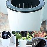Gezichta selbstwässernder Blumentopf, runde Form, Kunststoff ,weiß, Pflanzgefäß-Topf, für...