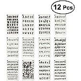 yeahibaby Sets de plantillas de plástico, letras y números Plantillas Drawing Painting Stencils – Marcos