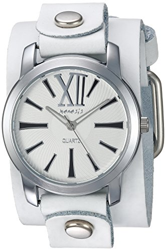Nemesis WGB065W - Reloj de pulsera Mujer, piel, color Blanco