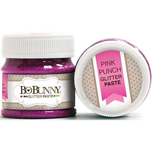 Bo Bunny pasta Double Dot-Pasta con Glitter, colore: rosa