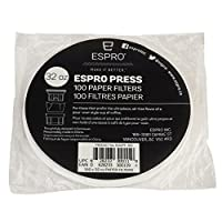 Espro 100 Paper Coffee Filters for Espro Press P3-32 oz, P5-32 oz, and P7-32 oz