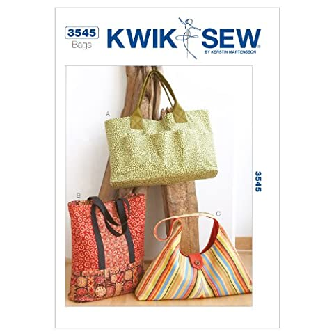 KWIK - SEW PATTERNS K3545 Size Extra-Small - Small - Medium - Large - Extra-Large Bags, Pack of 1,