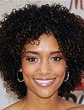 Perruque & xzl Perruques Fashion La machine brésilienne 7a afro boucle frisée fait perruques courtes perruques aucune de dentelle sans colle pour les femmes noires