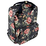 Yiye Women Oil Canvas Large Floral Backpack Blue - Best Reviews Guide