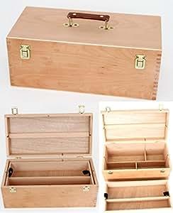 xxl utensilienkoffer malkoffer malbox pinsel schatulle holz k che haushalt. Black Bedroom Furniture Sets. Home Design Ideas