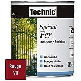 Peinture Spécial Fer - Rouge Vif - 0.5 L - TECHNIC