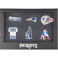 New England Patriots 6er Pinset in Geschenkbox - NFL Football Fanartikel Fanshop