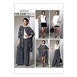 Vogue Mustern WESTM ABWIEGE-SCHAUFEL 400mm 9191ZZ Damen Poncho Top, Shorts und Hose, Größe L/XXL