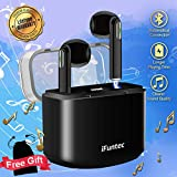 Wireless Earbuds, Bluetooth Headphones with Mic Compact In-Ear Mini Cordless Earphones Stereo Wireless