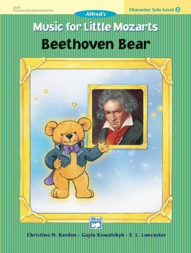 ALFRED 00 23235 M SICA PARA LITTLE MOZART CHARACTER SOLO BEETHOVEN BEAR NIVEL 2   MUSIC BOOK