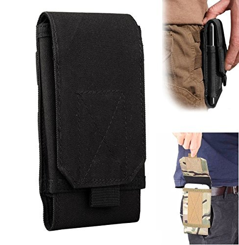 efanr Universal Outdoor Tactical Holster MILITÄR MOLLE Taille Gürteltasche Geldbörse Tasche Schutzhülle für iPhone 766S Plus Samsung Galaxy S7S6LG HTC und mehr mobile Handys bis 15,2cm