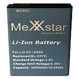 MeXXstar Akku für LG3, D855/BL-53YH (3300mAh/12,54h)
