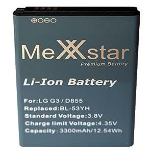 Batterie pour meXXstar lG3, d855/bL - 53YH (3300mAh 12,54Wh/li-ion