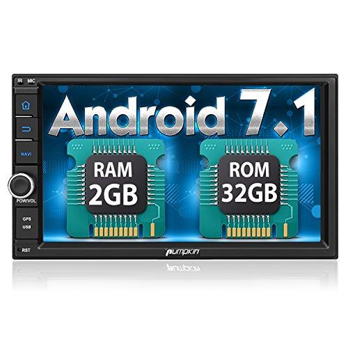 "PUMPKIN Android 7.1 32GB + 2GB Autoradio 2 Din mit Navi 7""18cm Bildschirm Unsterstützt Bluetooth WLAN DAB+ Fastboot USB MicroSD Subwoofer Universal"