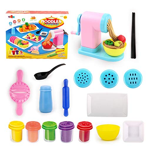 Blaward Maschine Lehm DIY Simulation Nudeln Maschine Küche Pretend Play Spielzeug Modellierwerkzeug für fantasievolles und kreatives Spielen