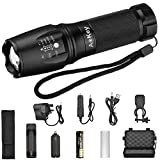 LED Flashlight, Aokey Ultra Bright Tactical Flashlight ,T6 800 Lumen Adjustable Focus 5