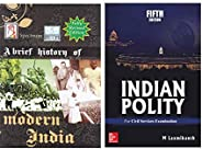 Combo Set Spectrum Modern India , M Laxmikant Indian Polity Latest Edition Paper Back