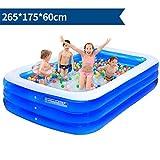 59d3b4026 YUGNG Espesar a los Niños Adultos de PVC ecológicos Bañarse y Nadar  Plegable Hinchable Cuadrado Grande