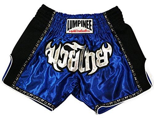 LUMPINEE Blu Retro Muay Thai pantaloncini per