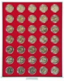 LINDNER Original Münzbox 2530 für 2 EURO bzw. 50 EURO-Cent in Münzenkapseln - Standard