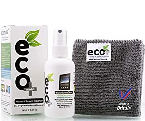 Ecomoist Natural Screen Cleaner 100ml with Fine Microfiber Towel