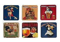 Idea Regalo - SOTTOBICCHIERI/di Birra Pub Retro Birre di Francia