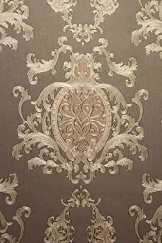 Vinyltapete Tapete Barock Retro # braun/gold/nougat # Kingwelson # 510609