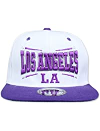 Original Snapback -Los Angeles LA, Weiß-Lila, Square