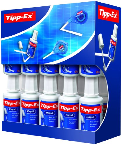Tipp-Ex Rapid Correction Fluid Fast-drying 20ml White Ref 895950 [Pack 15 5]